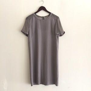 Elie Tahari 100% silk grey shift dress, 4